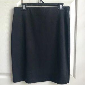 Old Navy Plain Black Pencil Skirt